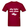 I Love Sushi T-Shirt - dark red