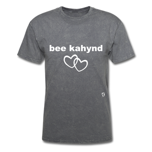 Be Kind T-Shirt - mineral charcoal gray