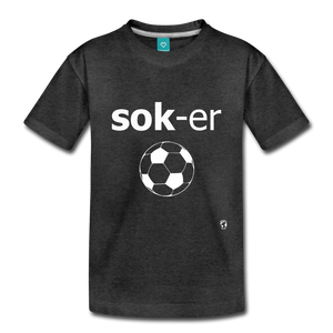 Soccer Toddler Premium T-Shirt - charcoal gray
