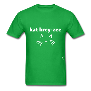 Cat Crazy T-Shirt - bright green