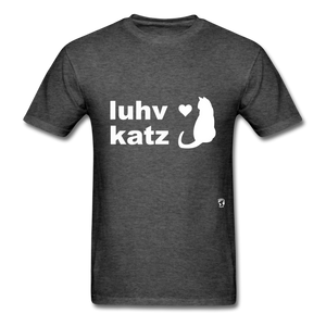 Love Cats T-Shirt - heather black