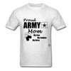 Proud Army Mom Red White and Blue T-Shirt - light heather grey