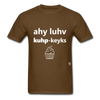 I Love Cupcakes T-Shirt - brown