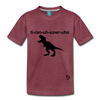 Tyrannosaurus Rex Kids' Premium T-Shirt - heather burgundy