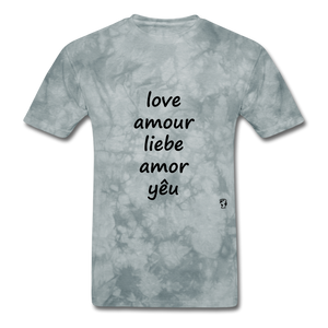 Love in Five Languages - grey tie dye