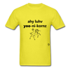 I Love Unicorns T-Shirt - yellow