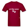 Prefer Paws T-Shirt - dark red