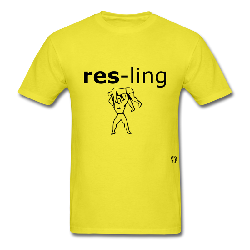 Wrestling T-Shirt - yellow