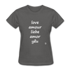 Love in Five Languages T-Shirt - charcoal