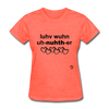 Love One Another T-Shirt - heather coral