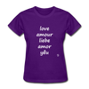 Love in Five Languages T-Shirt - purple