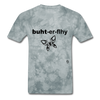 Butterfly T-shirt - grey tie dye