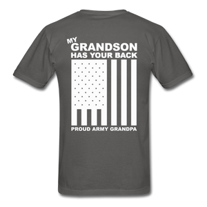 Army Grandpa T-Shirt - charcoal