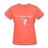 Gymnastic's Mom T-Shirt - heather coral