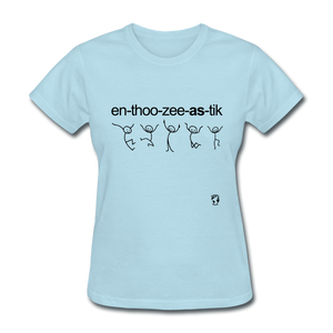 Enthusicastic T-Shirt - powder blue