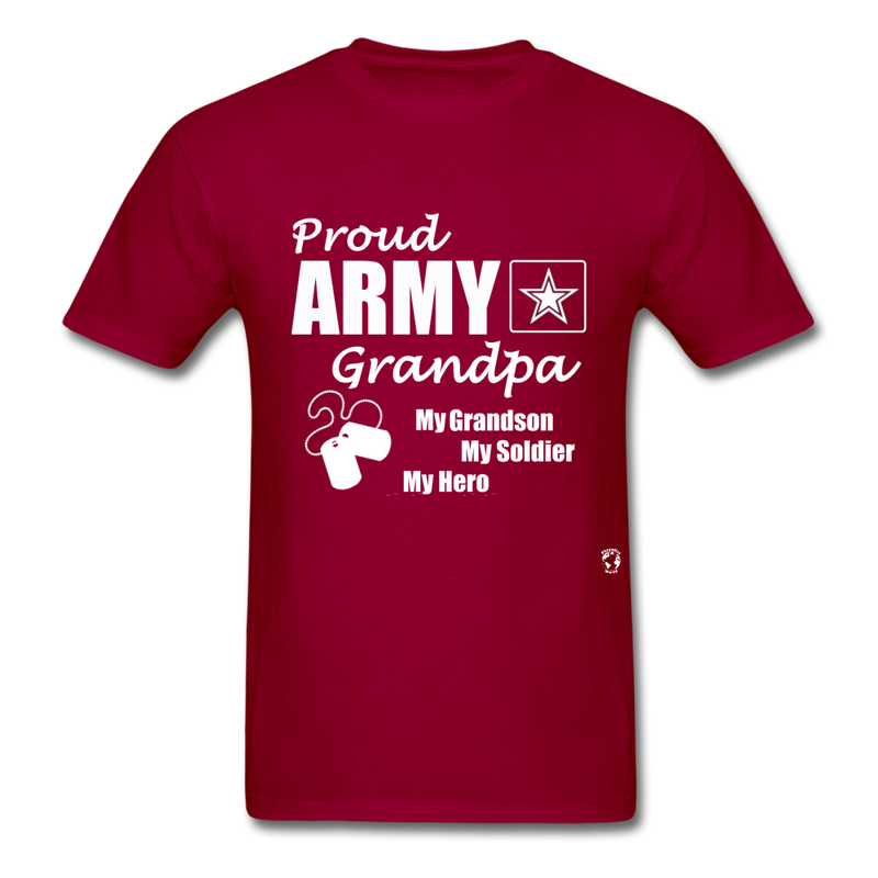 Army Grandpa T-Shirt - dark red