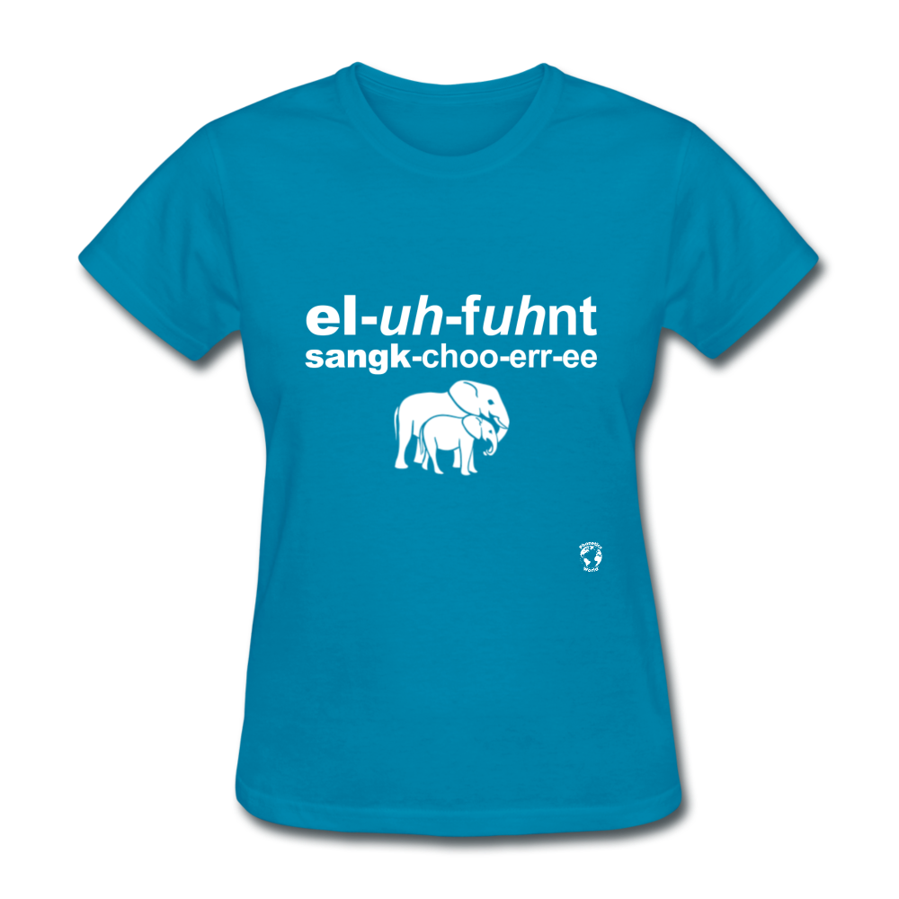 Elephant Sanctuary T-Shirt - turquoise