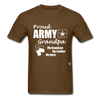 Army Grandpa T-Shirt - brown