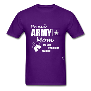 Proud Army Mom T-Shirt - purple