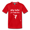 I Love Gymnastics Toddler Premium T-Shirt - red