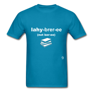 Library T-Shirt - turquoise