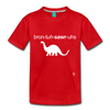 Brontosaurus Toddler Premium T-Shirt - red