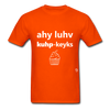 I Love Cupcakes T-Shirt - orange