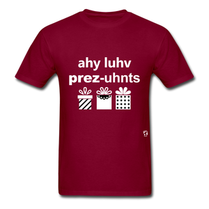 I Love Presents T-Shirt - burgundy