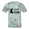 Prayer Heals T-Shirt - military green tie dye