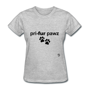 Prefer Paws T-Shirt - heather gray