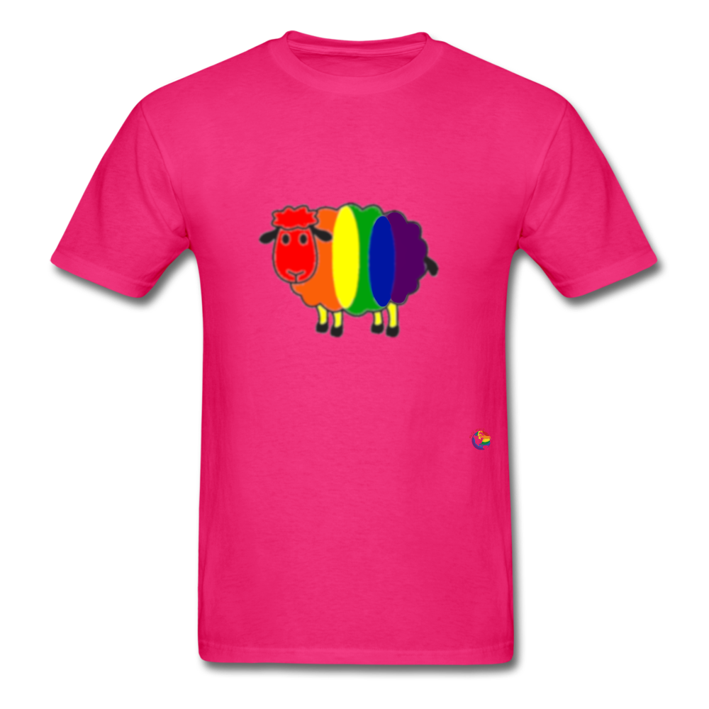 Rainbow Sheep T-Shirt - fuchsia