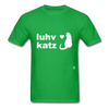 Love Cats T-Shirt - bright green