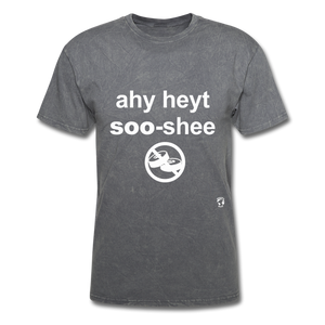I Hate Sushi T-Shirt - mineral charcoal gray
