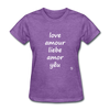 Love in Five Languages T-Shirt - purple heather