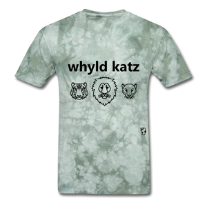 Wild Cats T-Shirt - military green tie dye