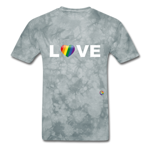 Love T-Shirt - grey tie dye