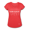 Health Coach Women's Tri-Blend V-Neck T-Shirt - heather red