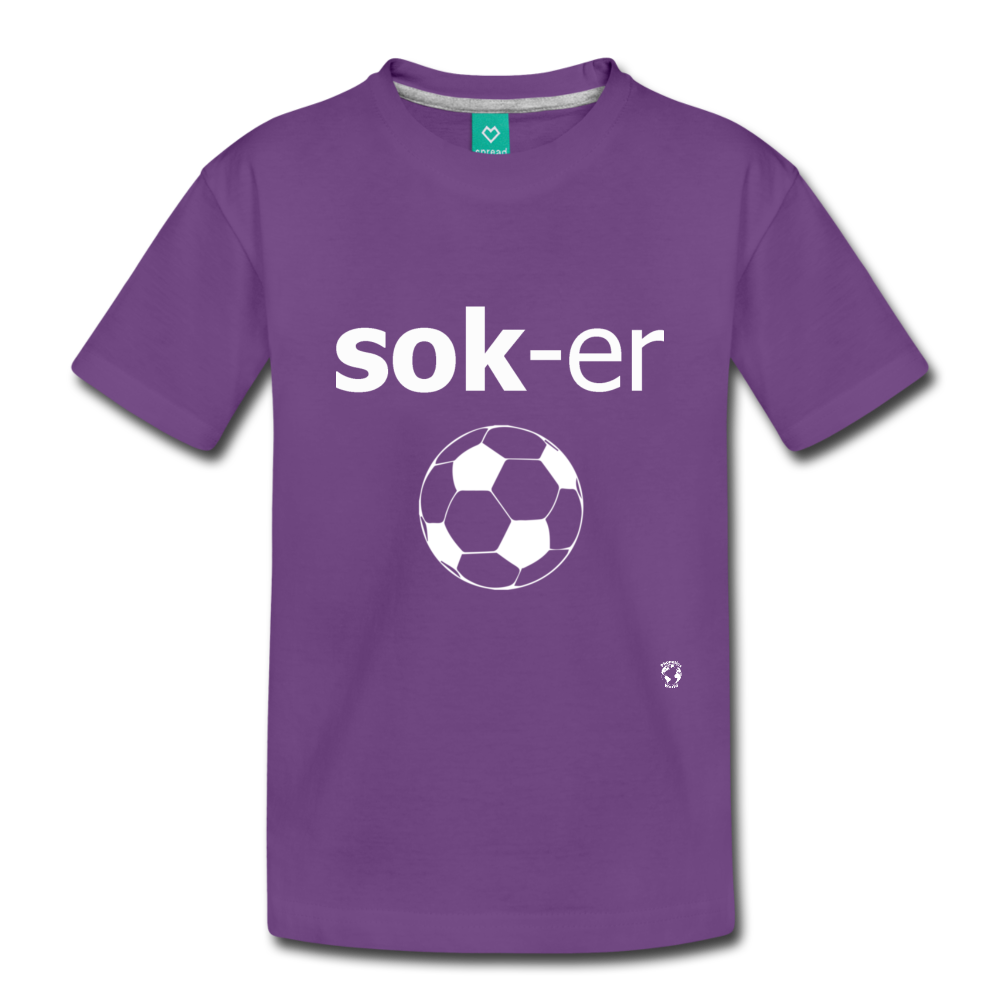 Soccer Toddler Premium T-Shirt - purple