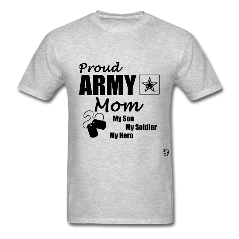 Proud Army Mom T-Shirt - heather gray