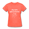 I Love Unicorns T-Shirt - heather coral