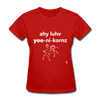 I Love Unicorns T-Shirt - red
