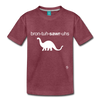 Brontosaurus Toddler Premium T-Shirt - heather burgundy