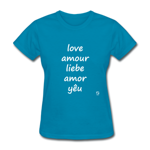 Love in Five Languages T-Shirt - turquoise