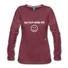 Optimistic Long Sleeve T-Shirt - heather burgundy