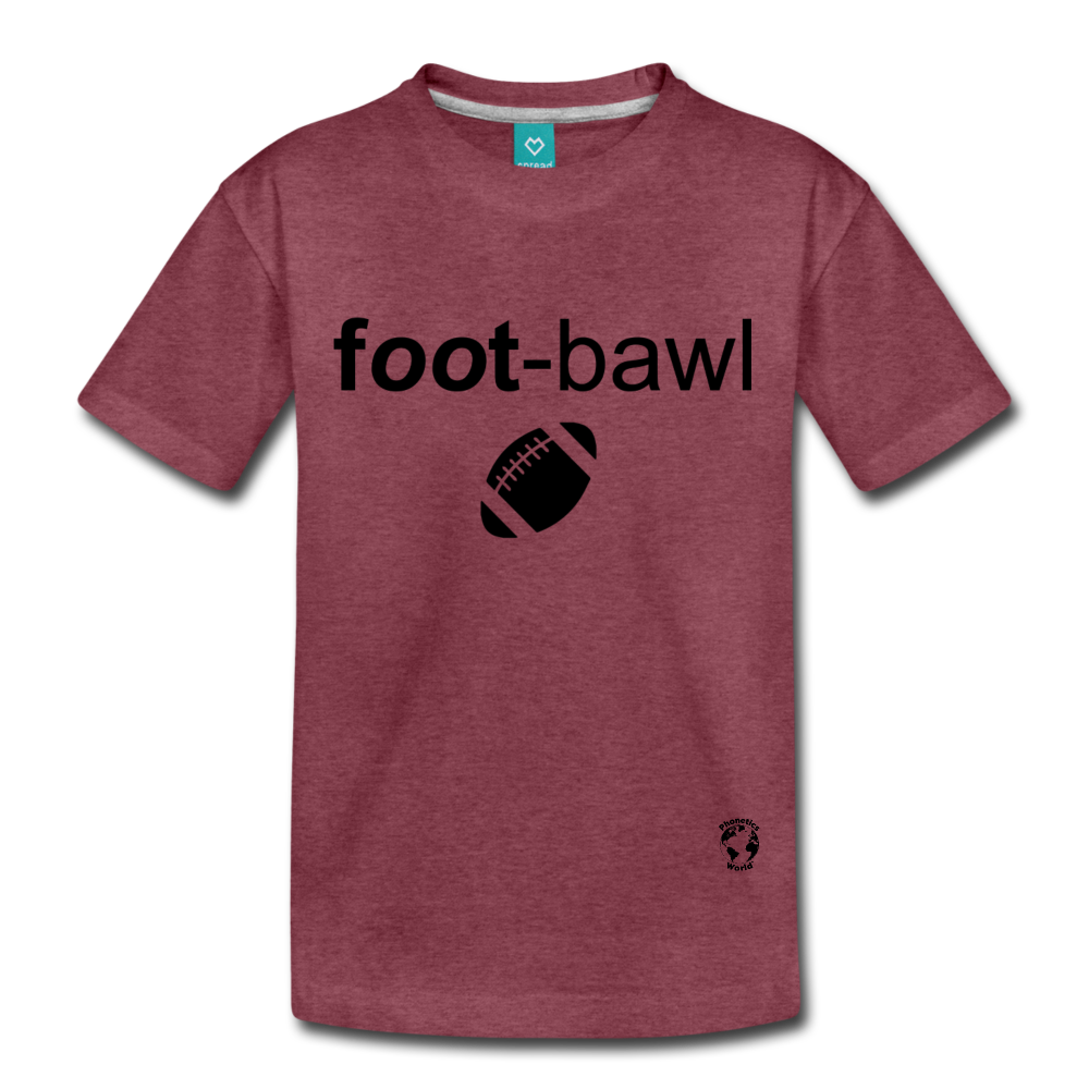 Football Kids' Premium T-Shirt - heather burgundy
