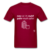 Never Enough Parmesan T-Shirt - dark red