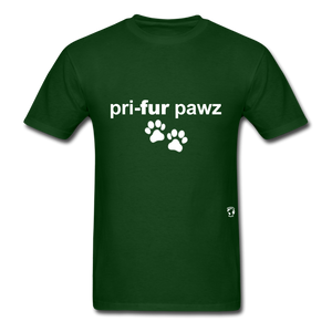 Prefer Paws T-Shirt - forest green