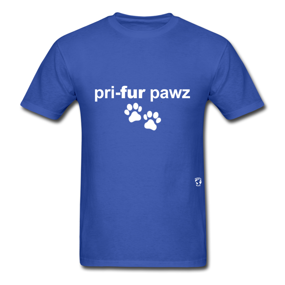 Prefer Paws T-Shirt - royal blue