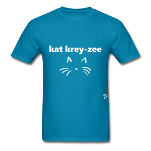 Cat Crazy T-Shirt - turquoise