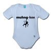 Monkey Organic Short Sleeve Baby Bodysuit - sky